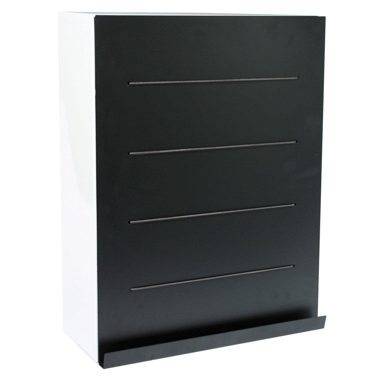 Armoire de wc x x cm noir slice leroy merlin - Wc noir leroy merlin ...