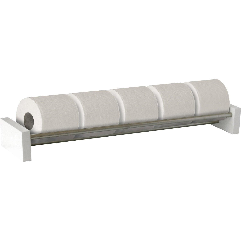 Rangement papier toilette x x p 7 3 cm blanc nath o leroy merlin for Rangement papier toilette