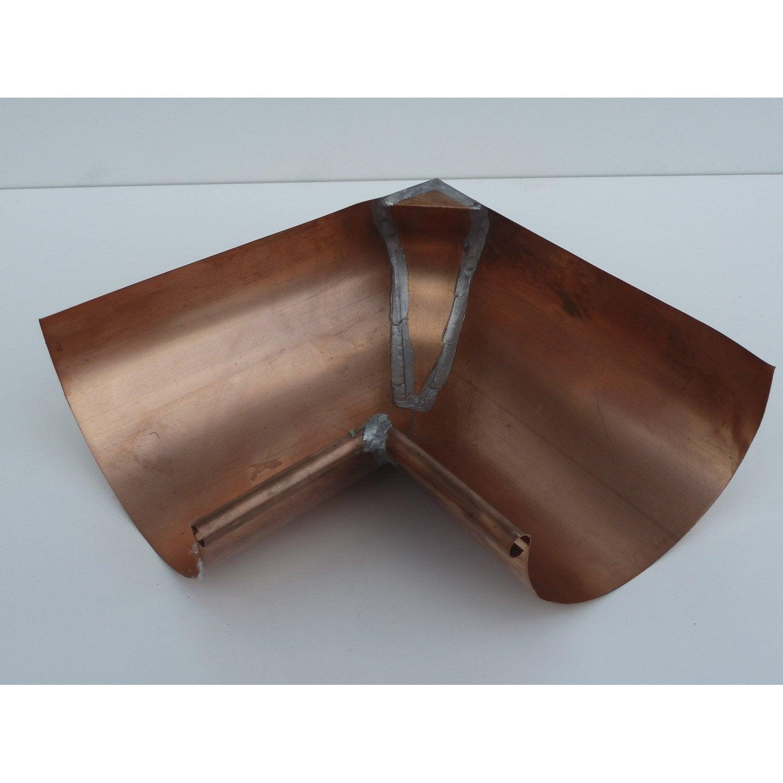 Equerre int rieure en cuivre pour goutti re galva d velopp 33cm leroy merlin - Leroy merlin gouttiere ...