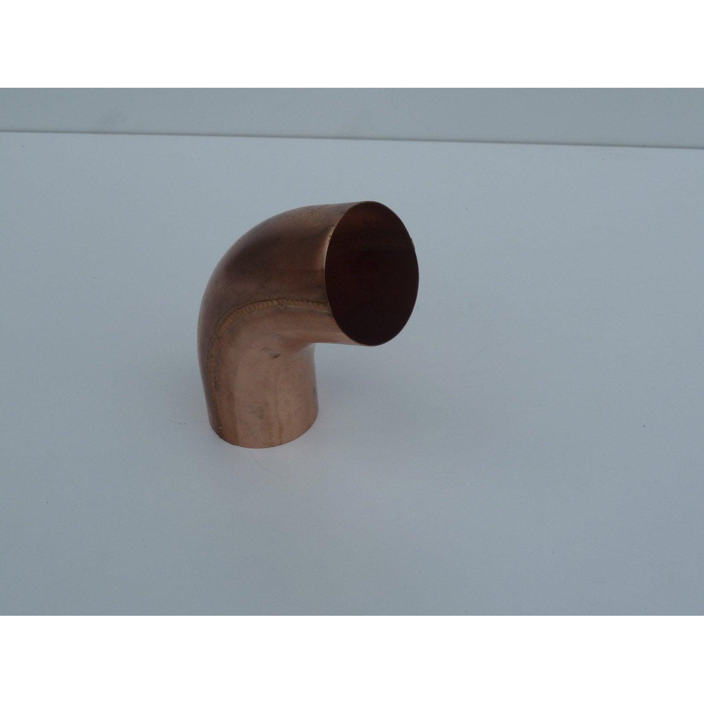 coude en cuivre diam 100mm pour goutti re galva d velopp 33cm leroy merlin. Black Bedroom Furniture Sets. Home Design Ideas