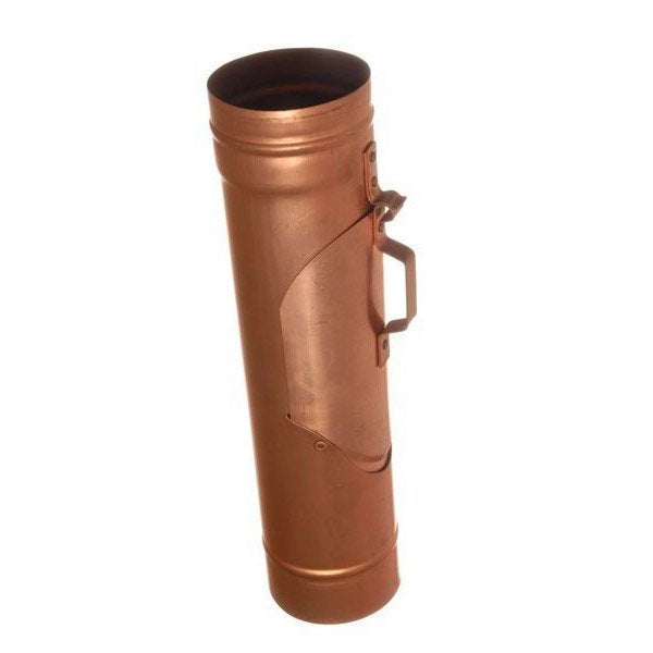 Recuperateur d eau en cuivre pour gouttiere galva developpe 33cm scover - Gouttiere leroy merlin ...