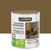Peinture brun brun 2 LUXENS Couleurs intérieures satin 0.5 l