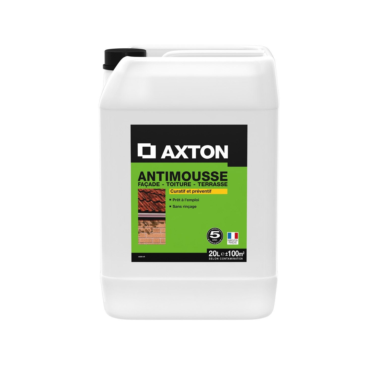 Antimousse fa ade axton 20 l leroy merlin for Produit anti mousse