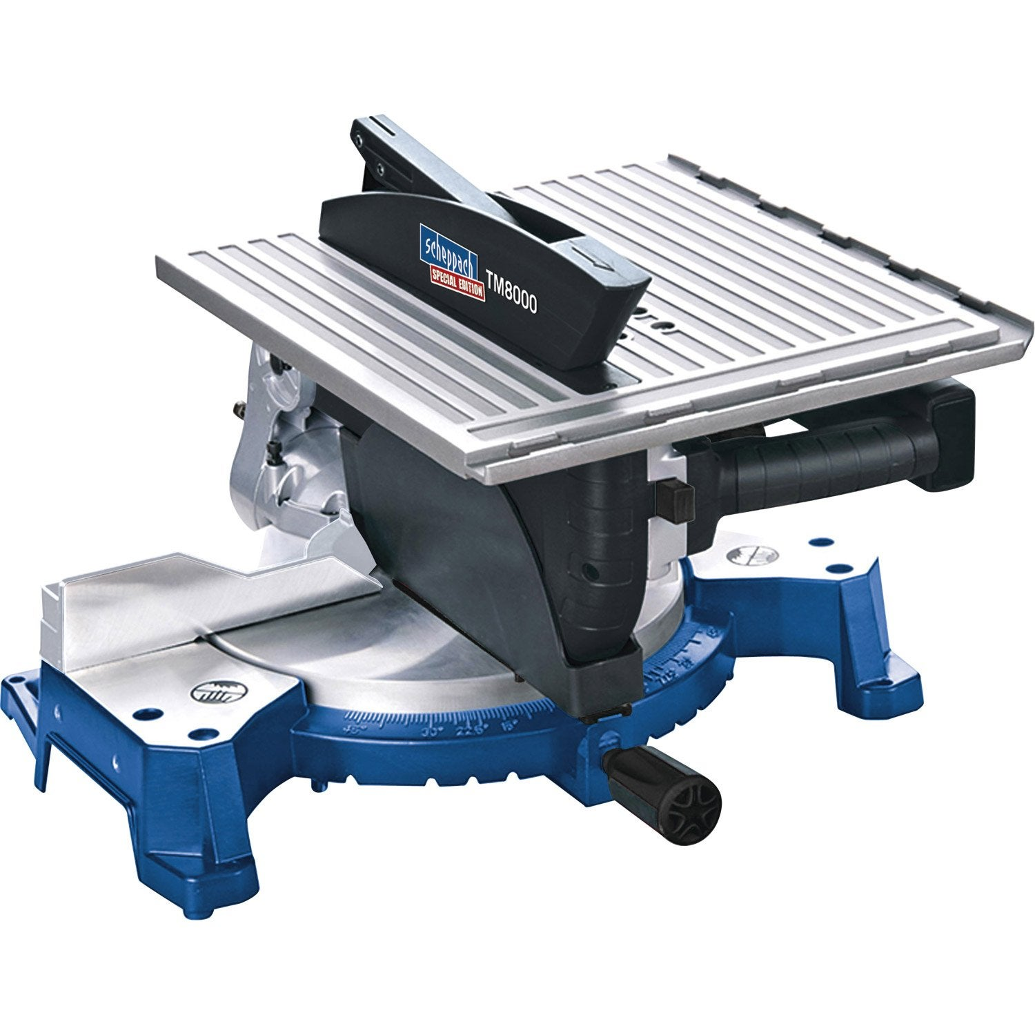 Scie onglet scheppach hm110t 250 mm 1800 w leroy merlin - Scie a onglet sur table reversible ...