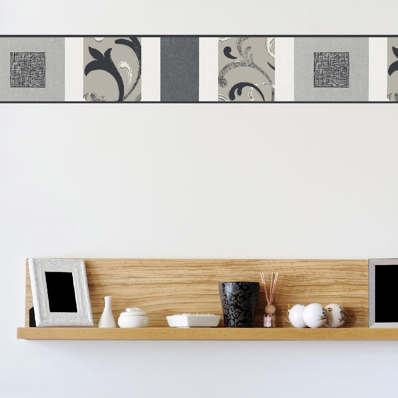frise vinyle adh sive volutes l 5 m x cm leroy merlin. Black Bedroom Furniture Sets. Home Design Ideas