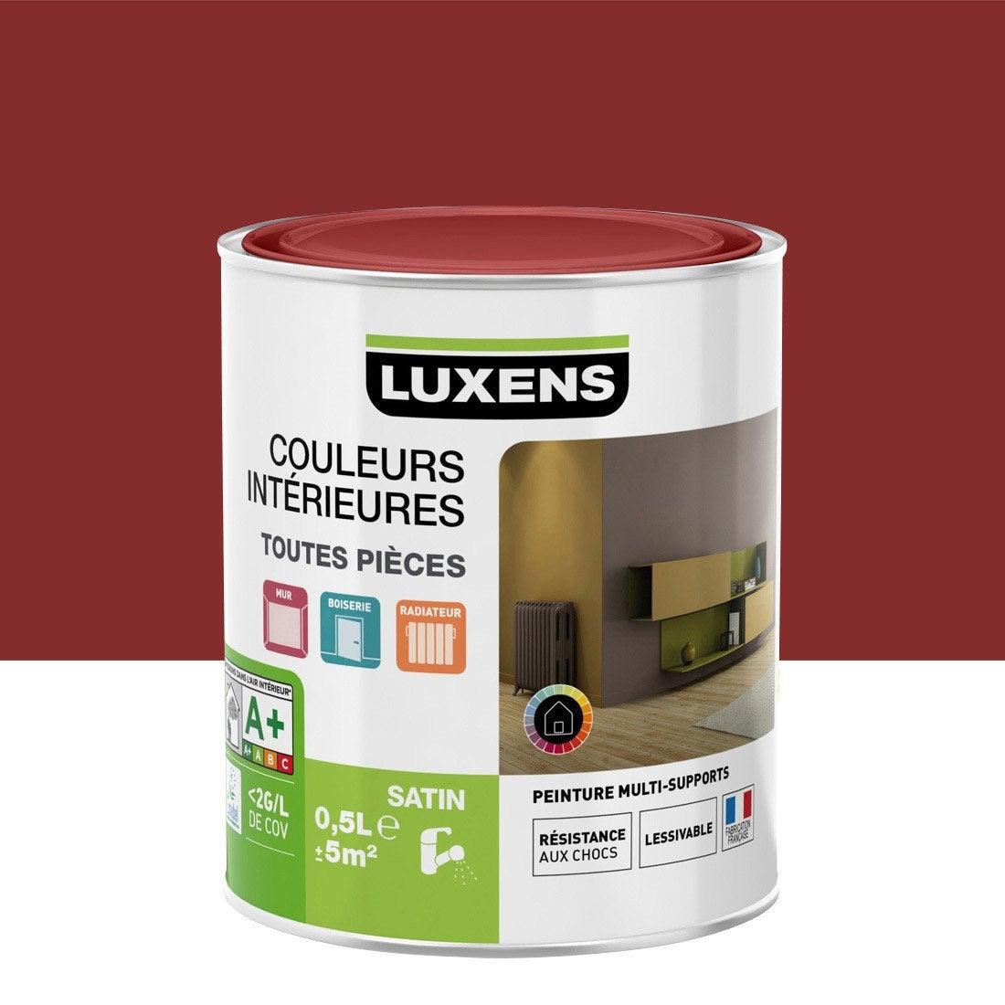 peinture rouge gourmand 2 luxens couleurs int rieures satin 0 5 l leroy merlin. Black Bedroom Furniture Sets. Home Design Ideas