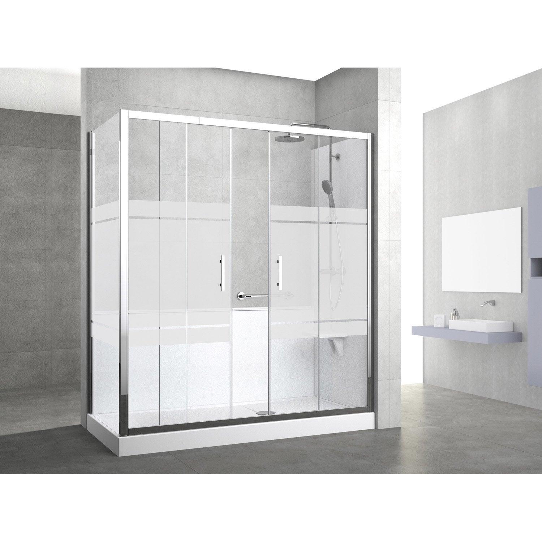 Kit de remplacement baignoire par douche entre 2 murs 160 - Baignoires douches leroy merlin ...