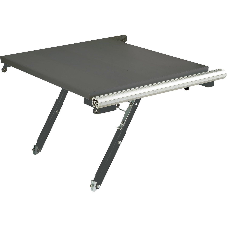 rallonge de table rabattable pour precisa 6 0 scheppach leroy merlin. Black Bedroom Furniture Sets. Home Design Ideas
