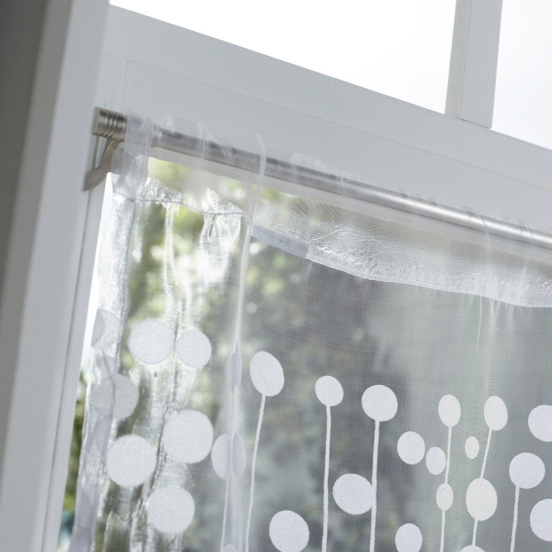 Vitrage bubble blanc x cm inspire leroy merlin - Leroy merlin vitrage ...