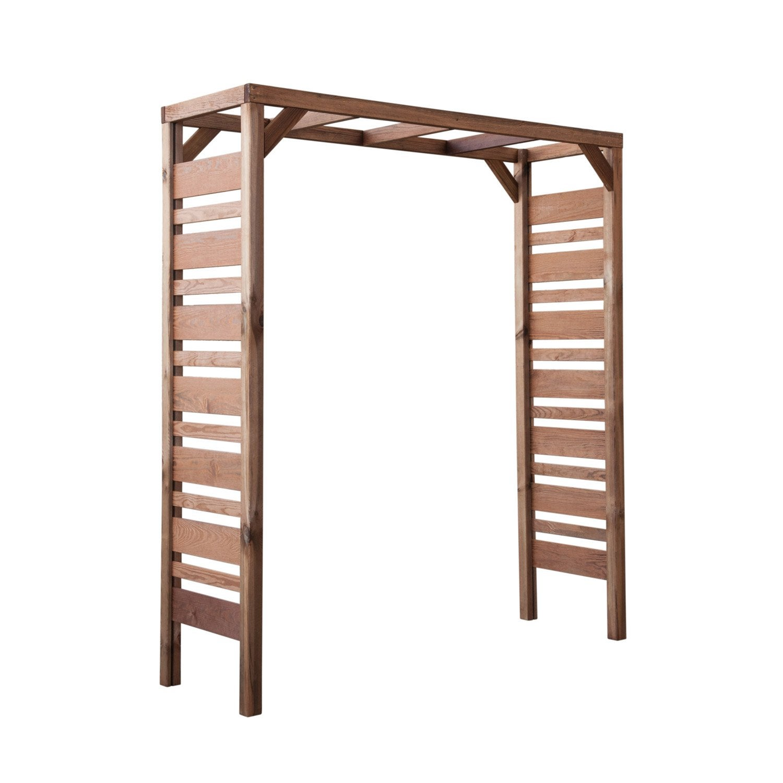pergola double stelmet moderne x x cm leroy merlin. Black Bedroom Furniture Sets. Home Design Ideas