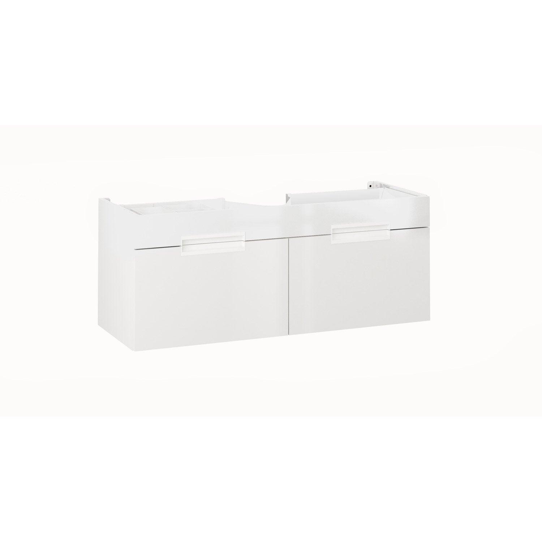 Meuble sous vasque x x cm blanc eden for Meuble sous vasque leroy merlin