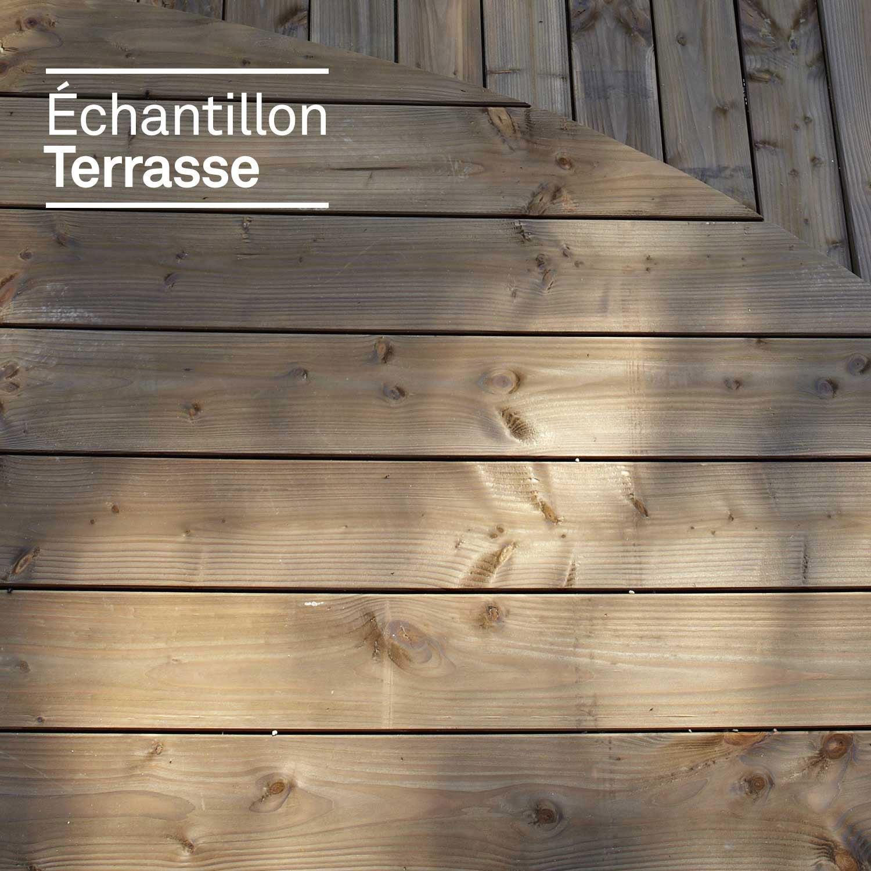Echantillon de terrasse en douglas marron  Leroy Merlin
