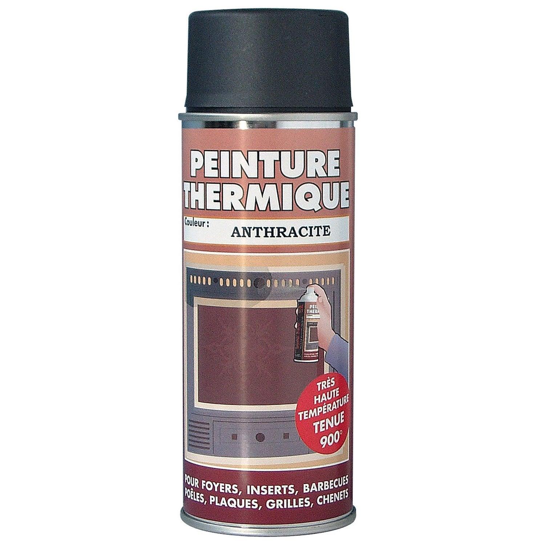 Peinture Haute Temperature Pour Poele A Bois - Peinture thermique anthracite PYROFEU, aérosol de 400 ml Leroy Merlin