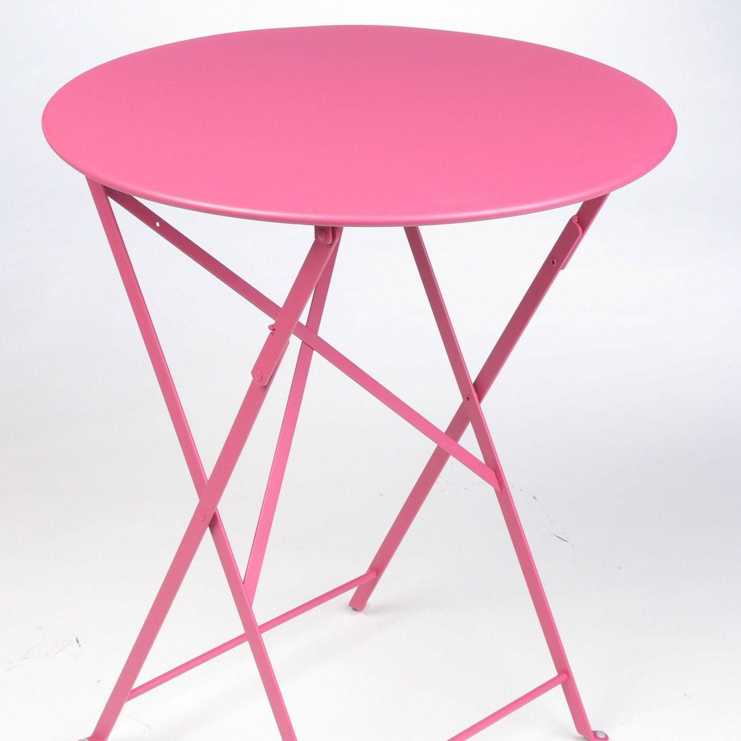 table de jardin fermob bistro ronde fuchsia 2 personnes leroy merlin. Black Bedroom Furniture Sets. Home Design Ideas