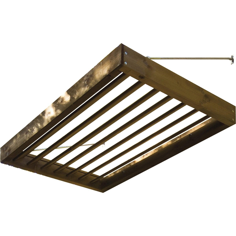 brise soleil pour fen tre et porte structure en sapin 120x11x81 cm leroy merlin. Black Bedroom Furniture Sets. Home Design Ideas