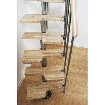 escalier droit mini bois m 233 tal chrom 233 leroy merlin