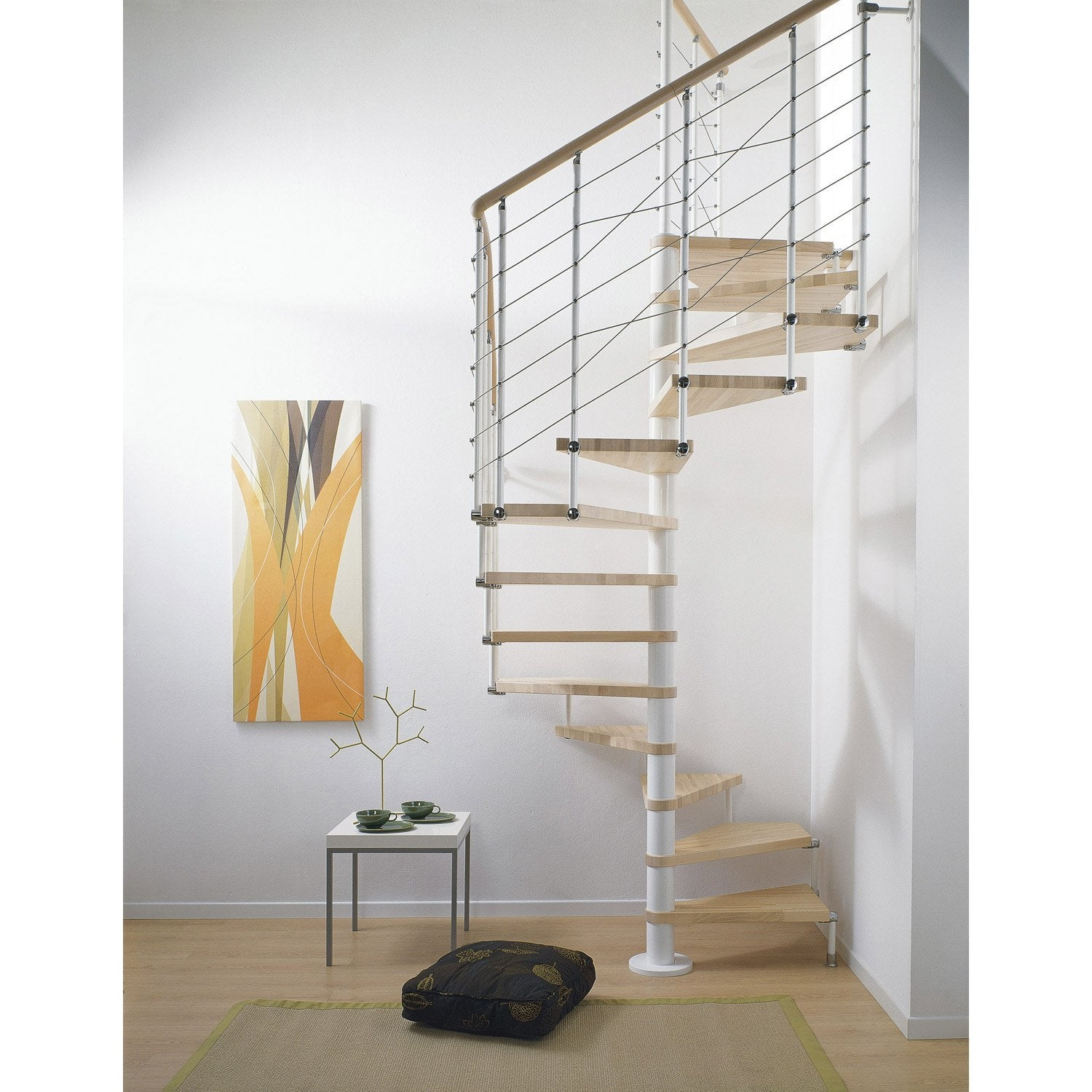 escalier cube line pixima colima on carr en bois et m tal 13 marches leroy merlin. Black Bedroom Furniture Sets. Home Design Ideas