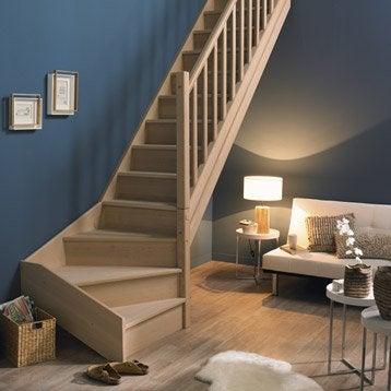 pin escalier 2 quarts tournant avec marche m tallique. Black Bedroom Furniture Sets. Home Design Ideas