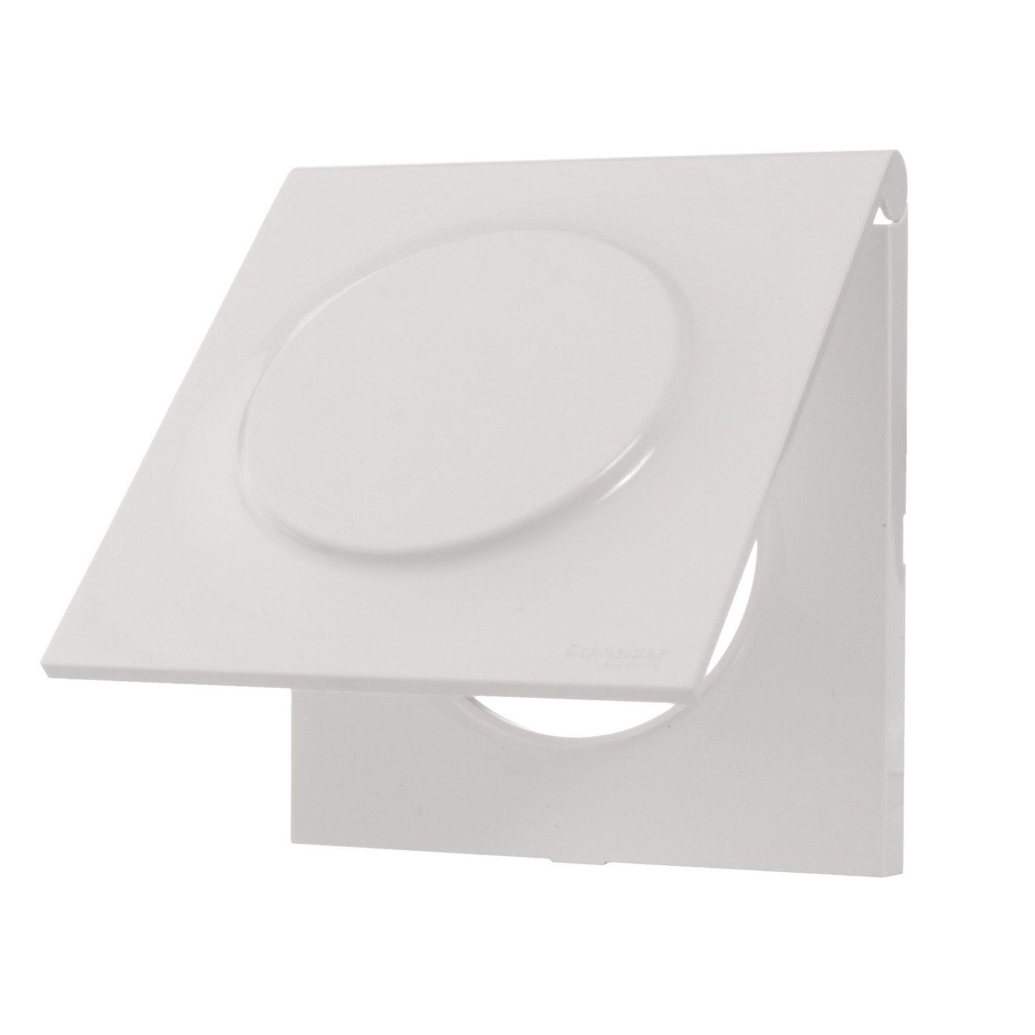 Plaque simple odace schneider electric blanc brillant for Plaque melamine leroy merlin