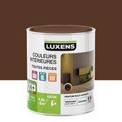 Peinture brun chocolat 2 LUXENS Couleurs intérieures satin 0.5 l
