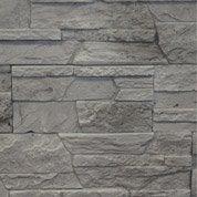 Plaquette de parement plâtre gris Merapi