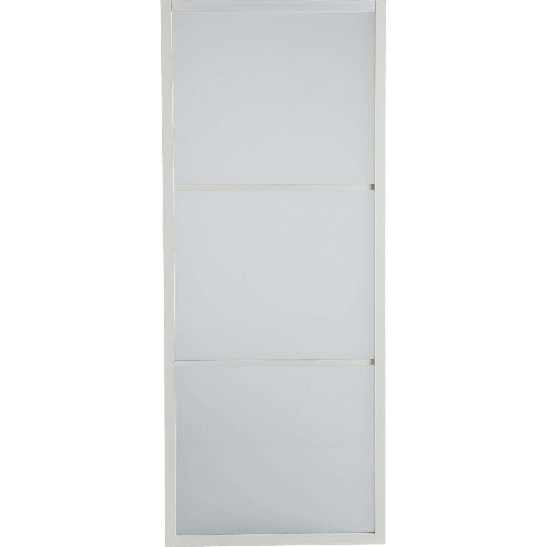 porte coulissante aluminium aspen blanc blanc n 0 artens