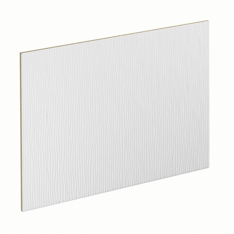 Kit 2 panneaux pour porte de placard coulissante spaceo cm blanc - Leroy merlin kit porte coulissante ...