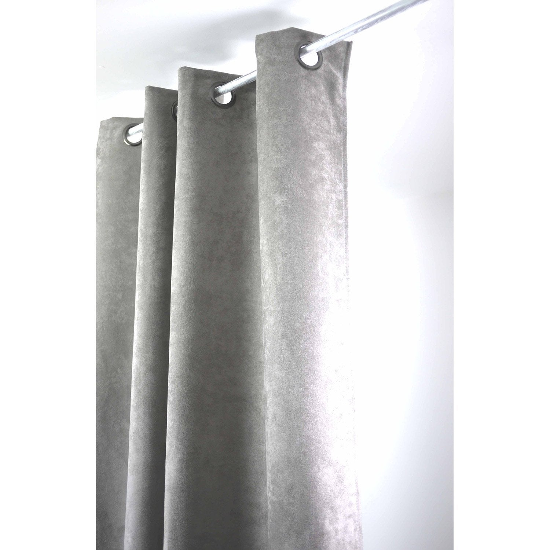 rideau tamisant suedine gris souris x cm leroy merlin. Black Bedroom Furniture Sets. Home Design Ideas