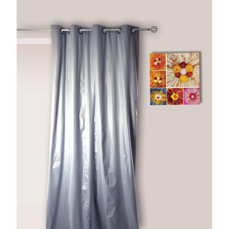 rideau occultant vesuvio gris x cm leroy merlin. Black Bedroom Furniture Sets. Home Design Ideas