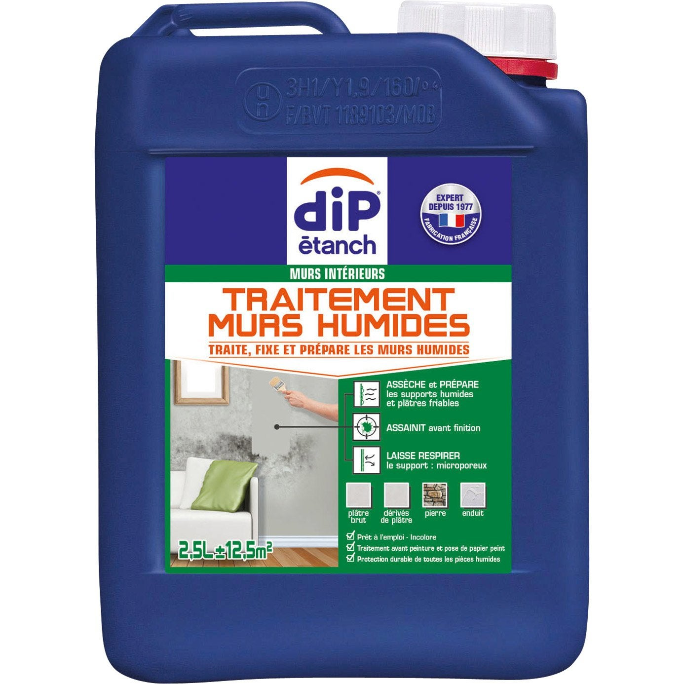 Traitement mur humide dip incolore 2 5 l leroy merlin - Traitement mur humide ...