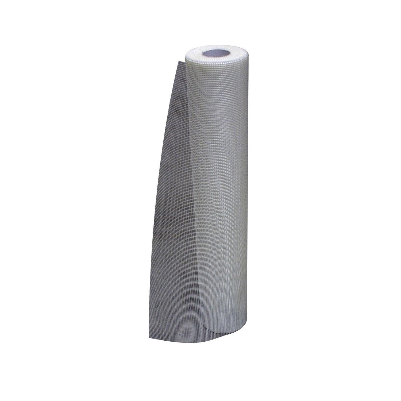 Rouleau treillis de fibre de verre pour iso thermique par l 39 ext 1x50m - Peinture pour fibre de verre leroy merlin ...