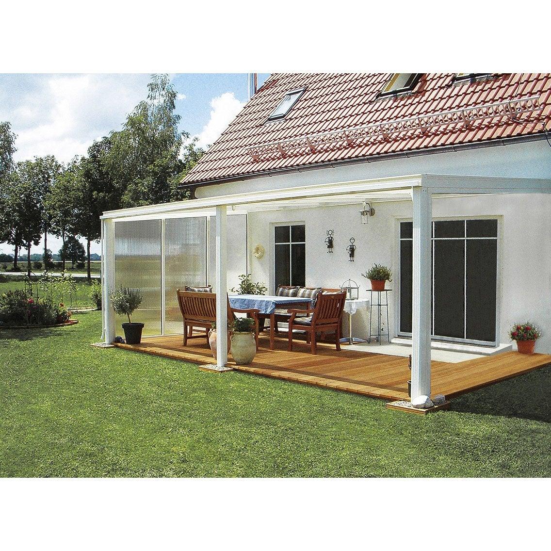 Paroi fixe avec fixations pour toit de terrasse tdkw tdow ideanature ler - Passe paroi leroy merlin ...