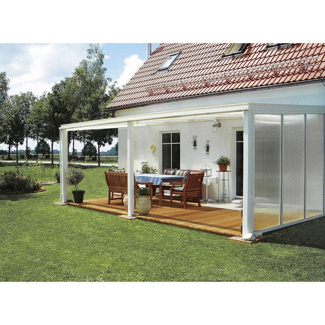 Paroi fixe avec fixations pour toit de terrasse tdpw tdtw ideanature leroy merlin - Tonnelle pour terras ...