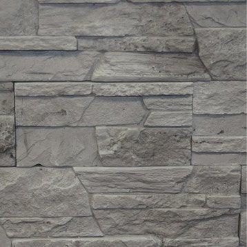 plaquette de parement merapi en pl tre gris leroy merlin. Black Bedroom Furniture Sets. Home Design Ideas