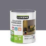 Peinture gris galet 2 LUXENS Couleurs intérieures satin 0.5 l