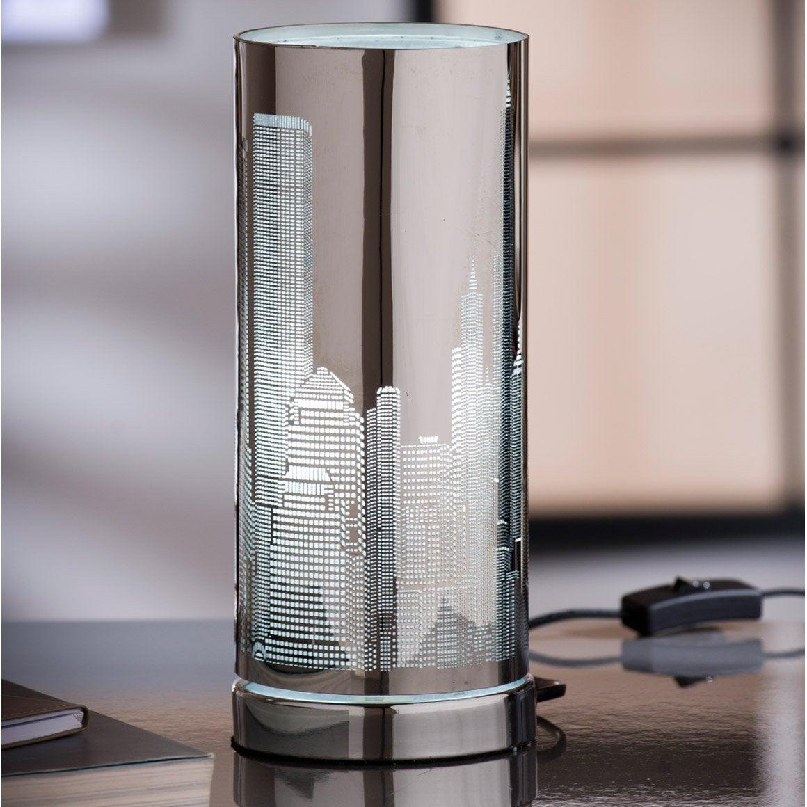 Lampe new york inspire m tal chrome 25w leroy merlin - Lampe a poser leroy merlin ...