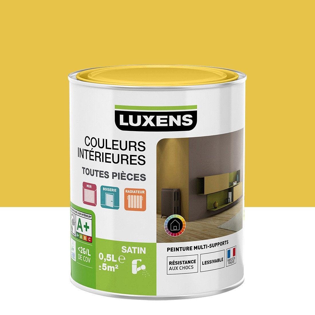 Idee Deco couleur vert anis : Peinture jaune anis 4 LUXENS Couleurs intérieures satin 0.5 l ...