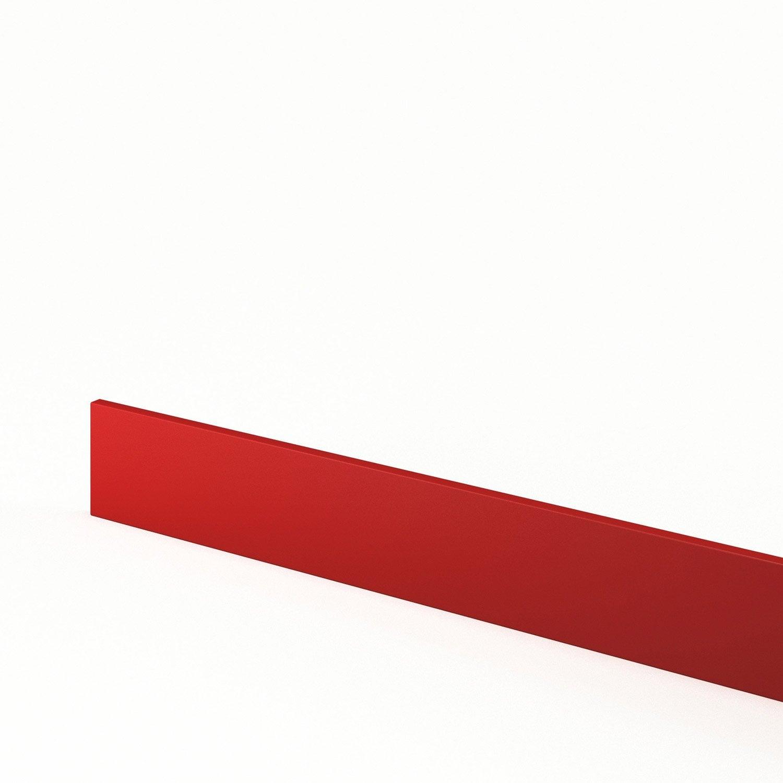 Plinthe de cuisine rouge plinthe d lice l 270 x h 15 cm for Plinthe cuisine 17 cm