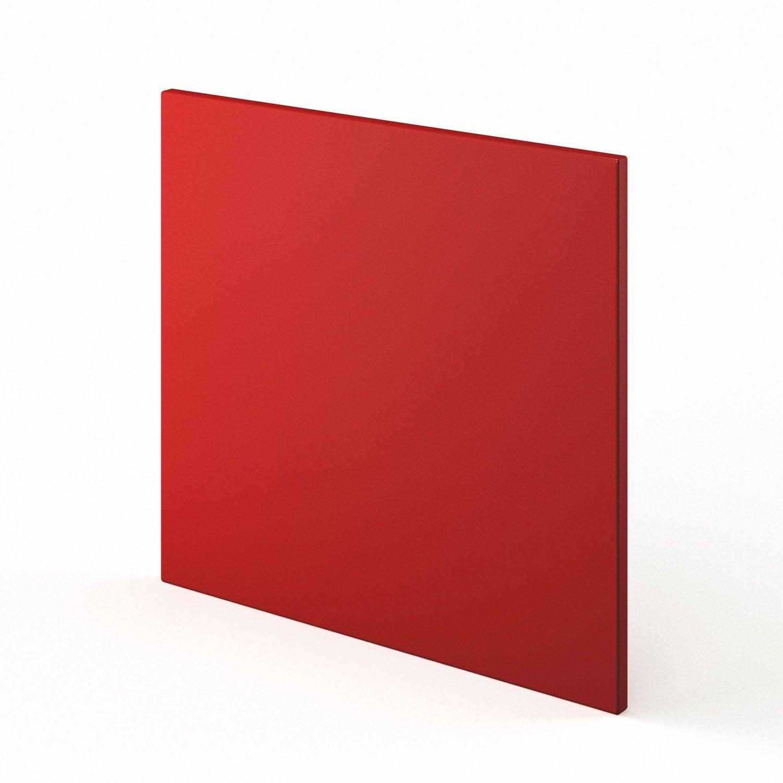 Porte lave vaisselle de cuisine rouge d lice x for Porte 60 cm leroy merlin