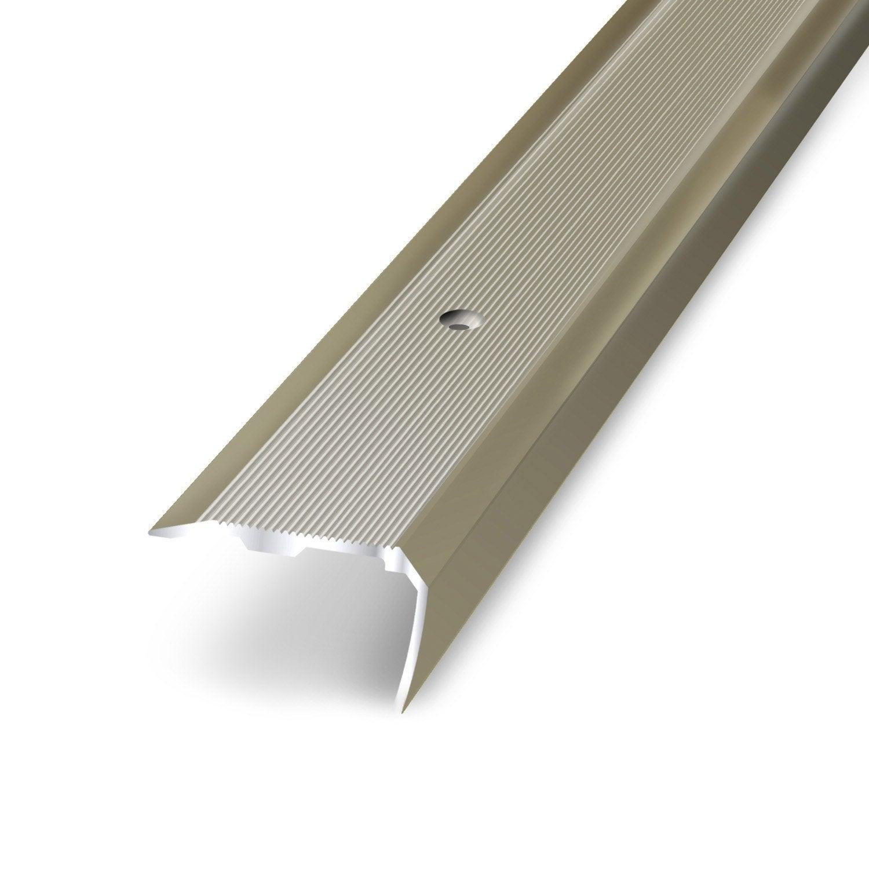 Nez de marche aluminium anodis x l 3 6 cm leroy merlin - Marche pied leroy merlin ...