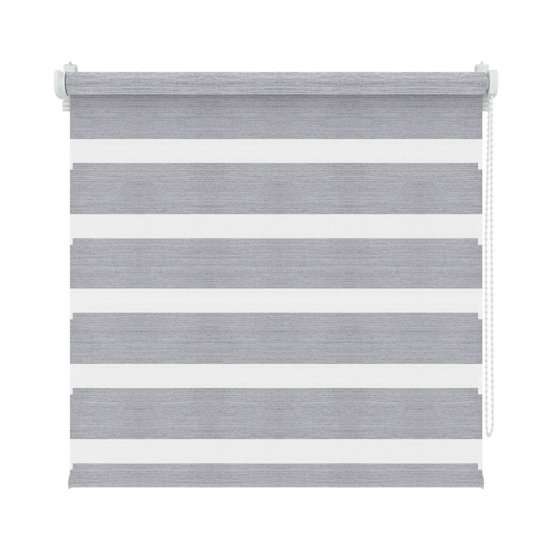 store enrouleur jour nuit m tallic gris fonc x 160 cm. Black Bedroom Furniture Sets. Home Design Ideas