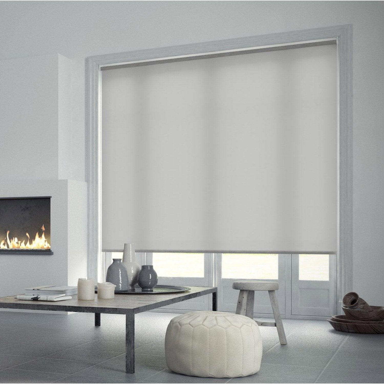 store enrouleur tamisant inspire gris galet n 6 200x250 cm leroy merlin. Black Bedroom Furniture Sets. Home Design Ideas