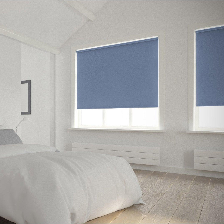 Store enrouleur occultant 5789 INSPIRE, bleu baltique n°1, 60x250 ...
