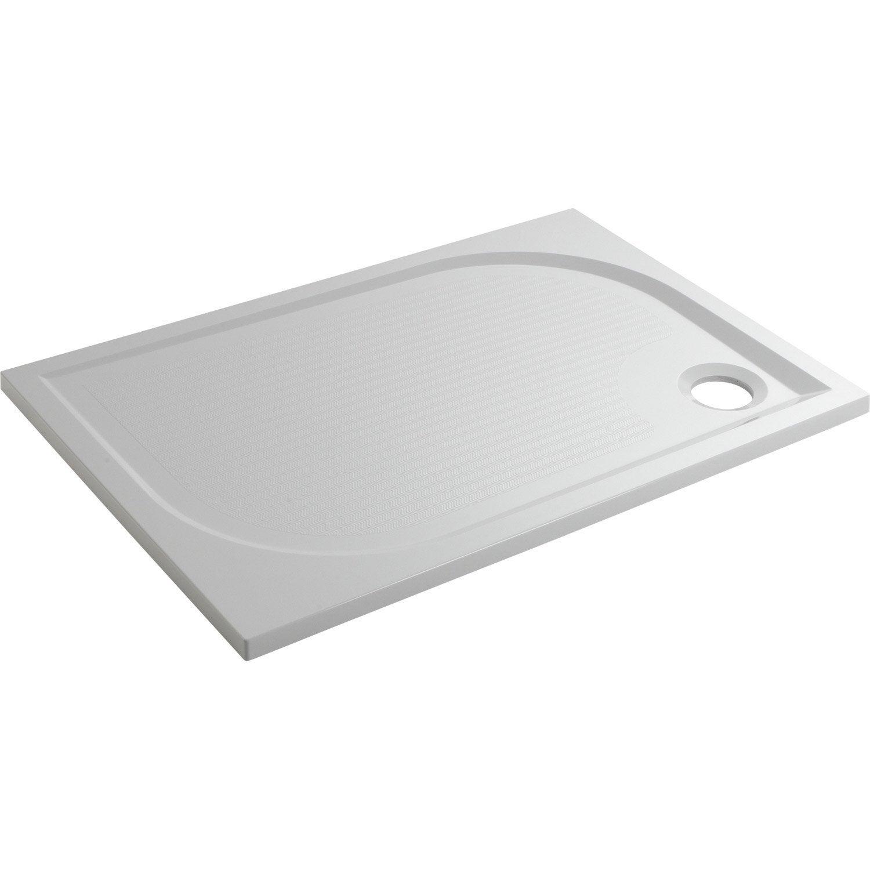 Receveur de douche rectangulaire x cm r sine blanc klara leroy - Receveur de douche 100 x 80 ...