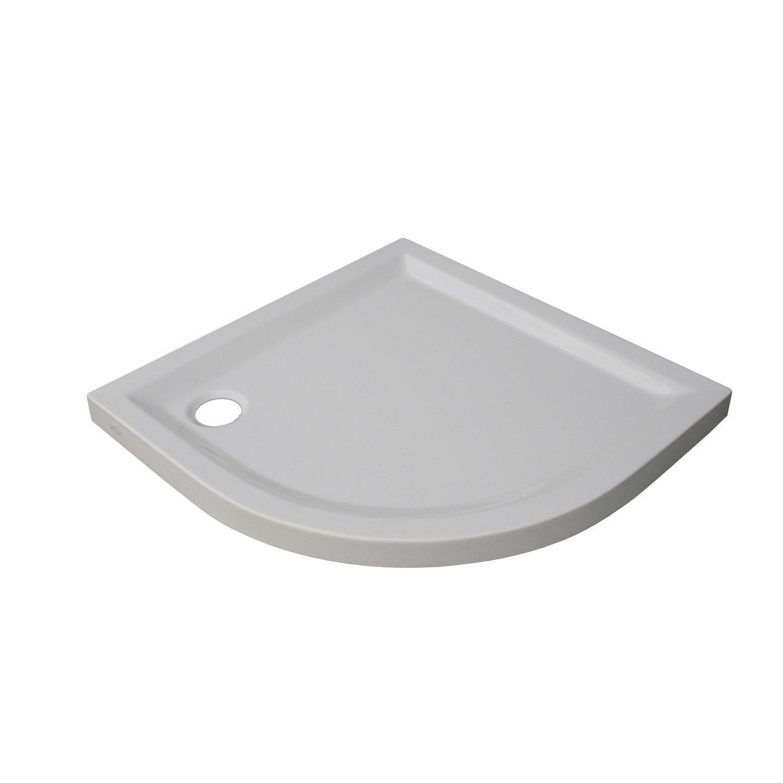 receveur de douche 1 4 de cercle x cm acrylique blanc houston leroy merlin. Black Bedroom Furniture Sets. Home Design Ideas