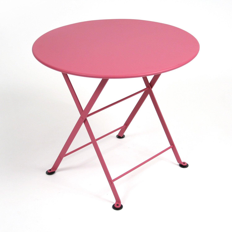 Table de jardin pour enfants fermob tom pouce ronde fuchsia leroy merlin - Fermob tom pouce ...