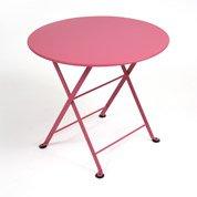 Table de jardin pour enfants FERMOB Tom pouce ronde fuschia 2 personnes