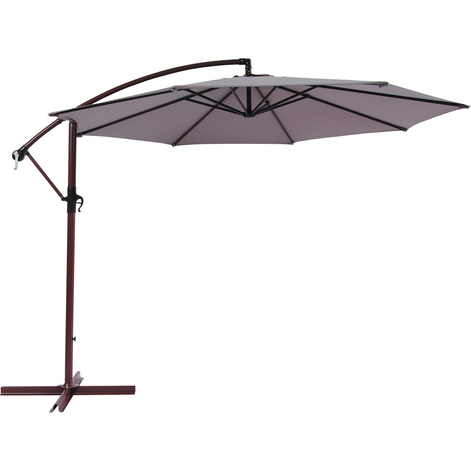 parasol excentr florence naterial gris dor 7 m leroy merlin. Black Bedroom Furniture Sets. Home Design Ideas