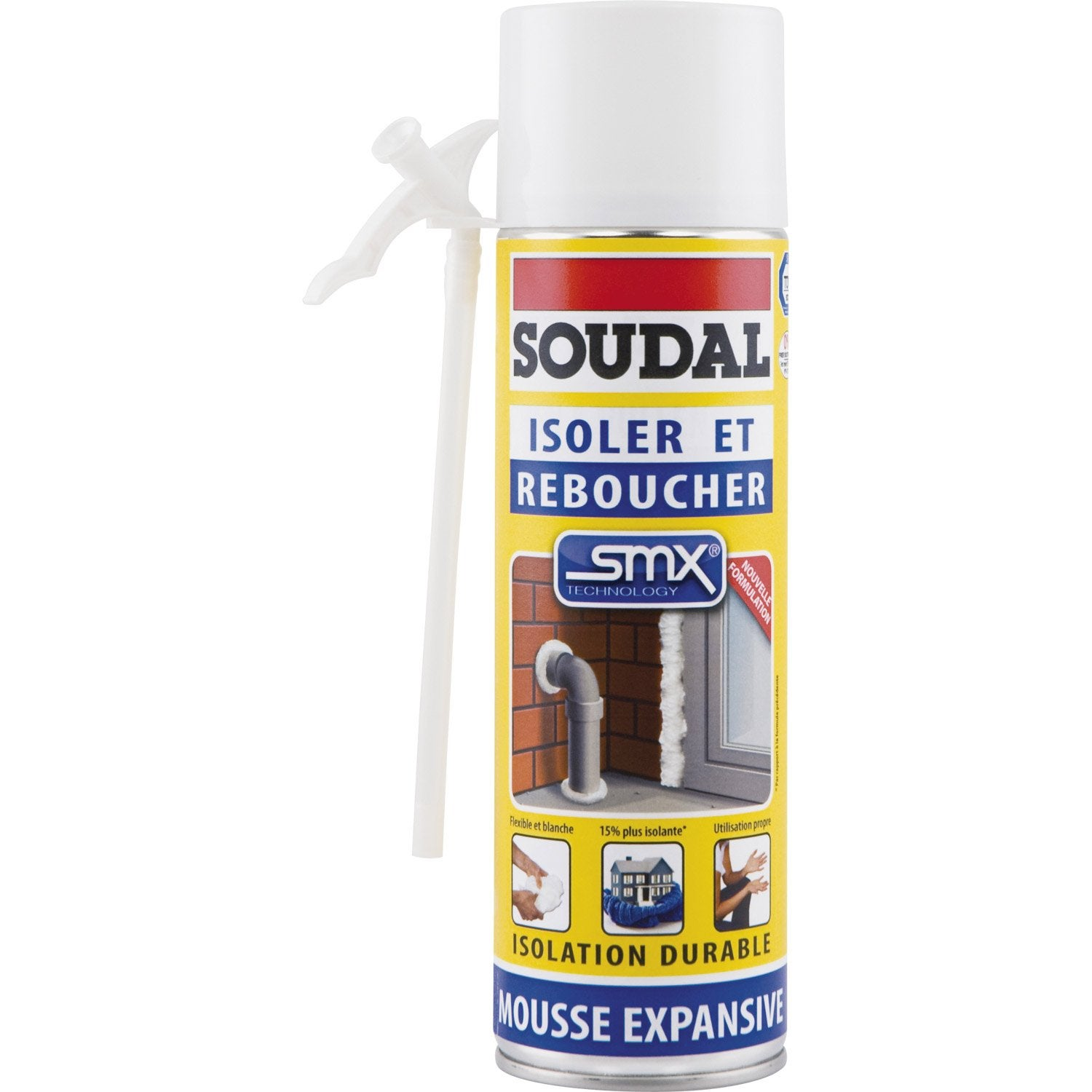 Mousse expansive isoler et reboucher soudal 500ml leroy merlin - Mousse acoustique leroy merlin ...