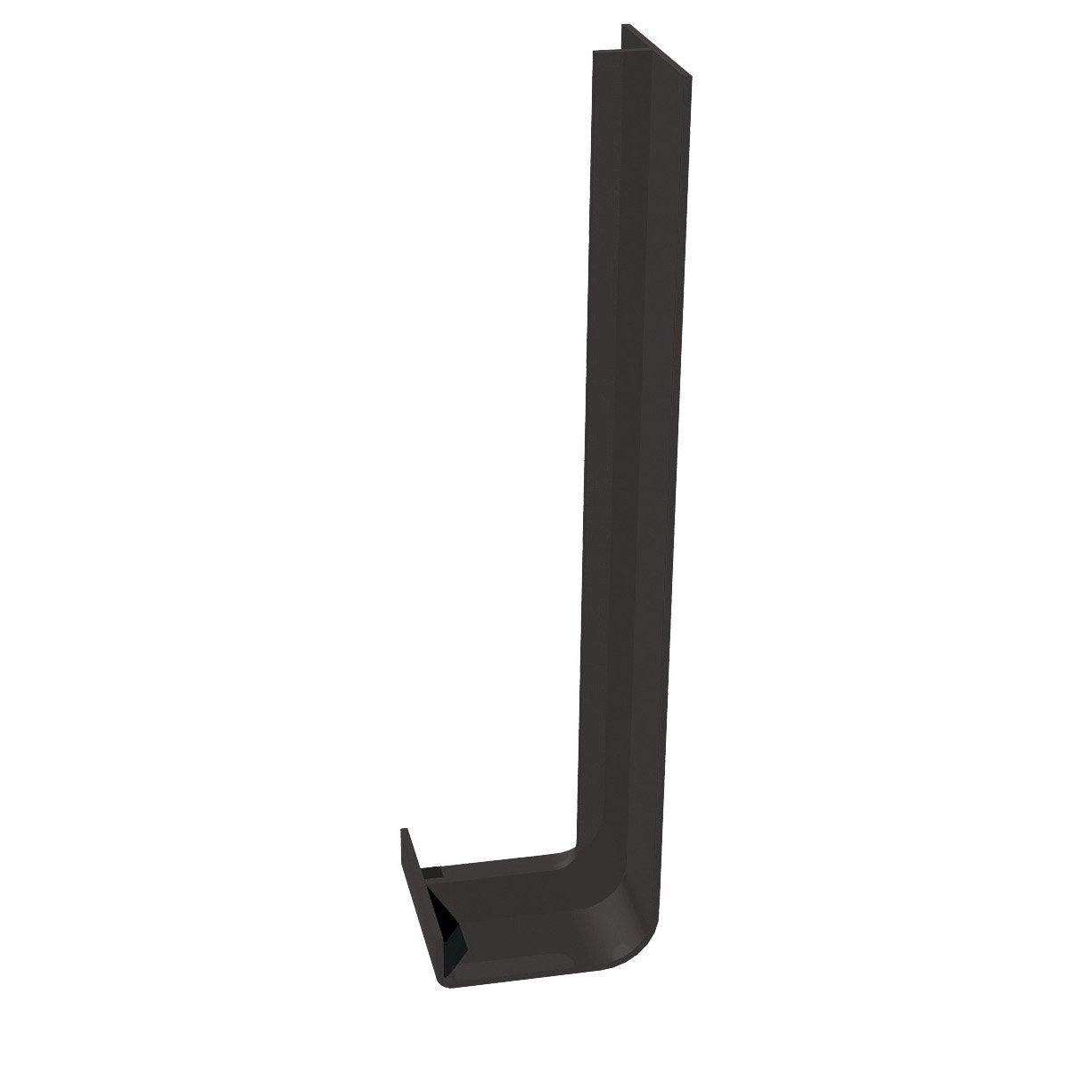 jonction de rive pour bandeau de rive noir pvc mm leroy merlin. Black Bedroom Furniture Sets. Home Design Ideas